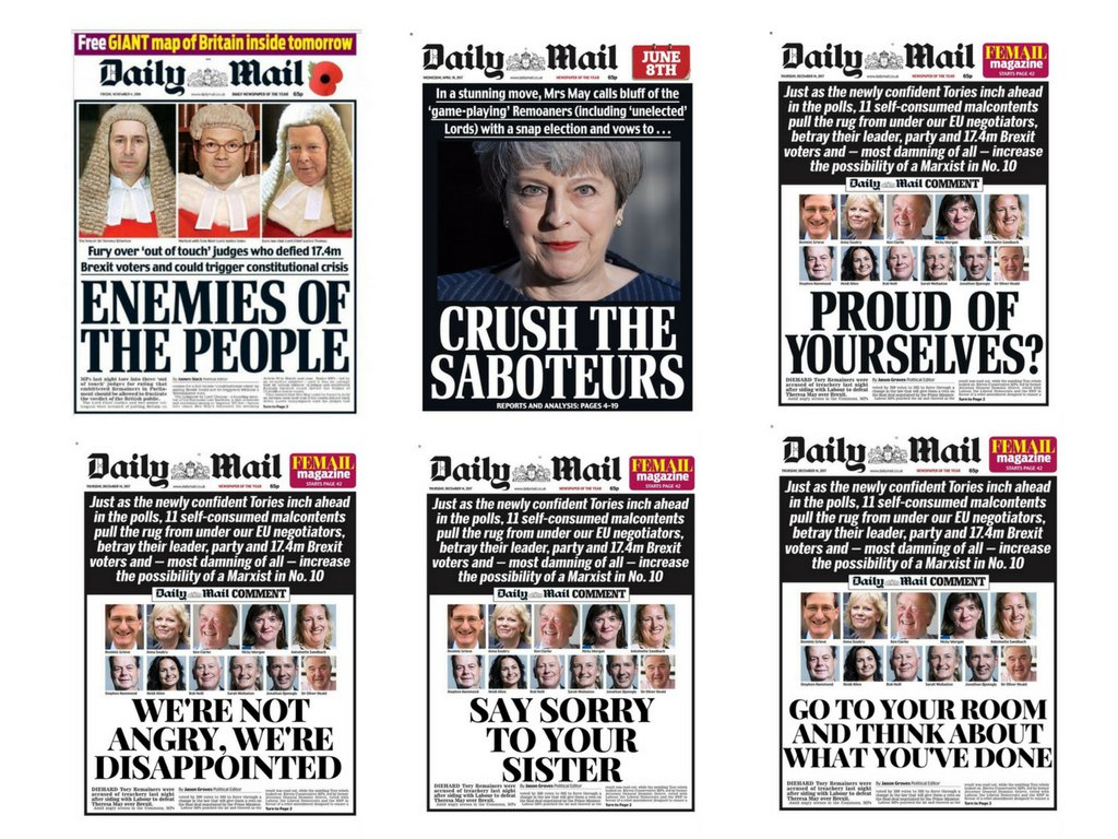 'Each Daily Mail front page is becoming...
