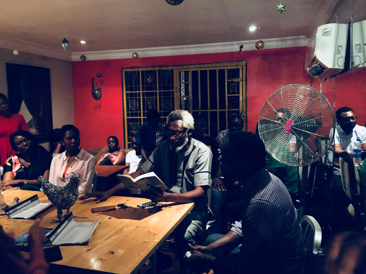 Wonderful evening in #Abuja listening to the words of @chumanwokolo at @AbujaLitSociety  All I've ever dreamed of: Africa and literature. #ReadOn #Africa #Nigeria <br>http://pic.twitter.com/ywd0rtL3j5