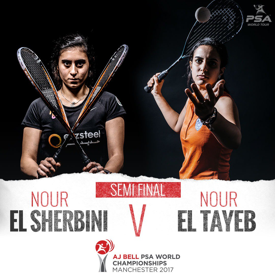 test Twitter Media - 🚨 We are live for the semi-finals of the @PSAWorldChamps!  @noursherbini and @NourElTayeb clash in the day's first match for a place in the final 🇪🇬 v 🇪🇬  Watch it on @SquashTV, @Eurosport Player, @btsport and more! https://t.co/4bczvVFOI4