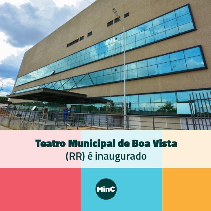 Em Boa Vista, Sá Leitão destaca importância econômica da cultura e participa de inauguração do Teatro Municipal. Leia mais: https://t.co/IGUn4JuQey 📸: Prefeitura de Boa Vista - Divulgação