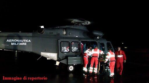 Effettuato nella notte volo d'urgenza con elicottero HH139 da isola Procida a Capodichino per soccorrere donna in imminente pericolo di vita