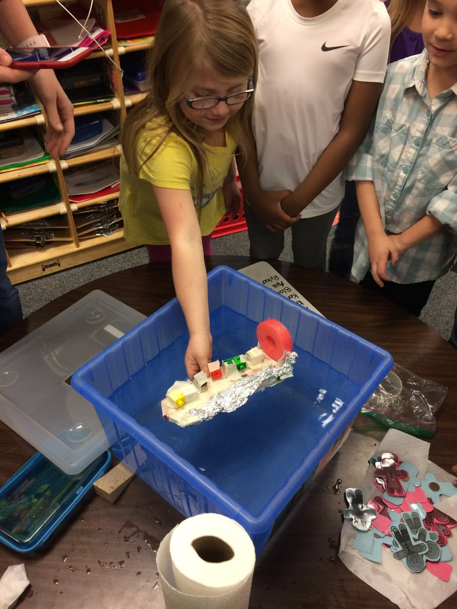 Dr Dana Miller On Twitter Kindergarten Stem Challenge Building Boats To See How Many Gingerbread Kids Can Get Their Boats To Hold Toppingbulldogs Https T Co 6gaqpxhzpa