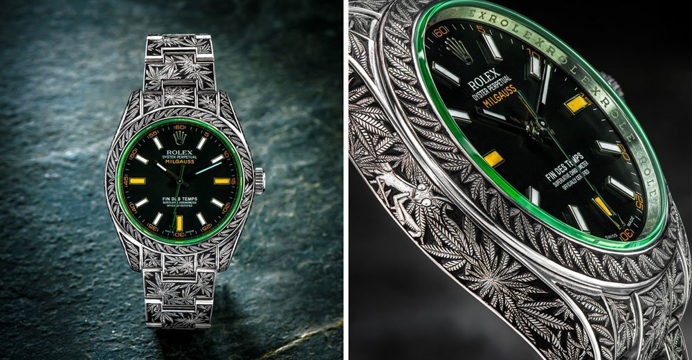 "This hand-engraved ""Cannabis"" Rolex is every weed lover's dream come true:  https://t.co/mQEHfKcTdv"