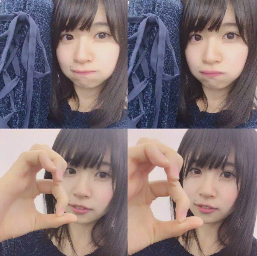 長い髪が素敵な松田好花さん