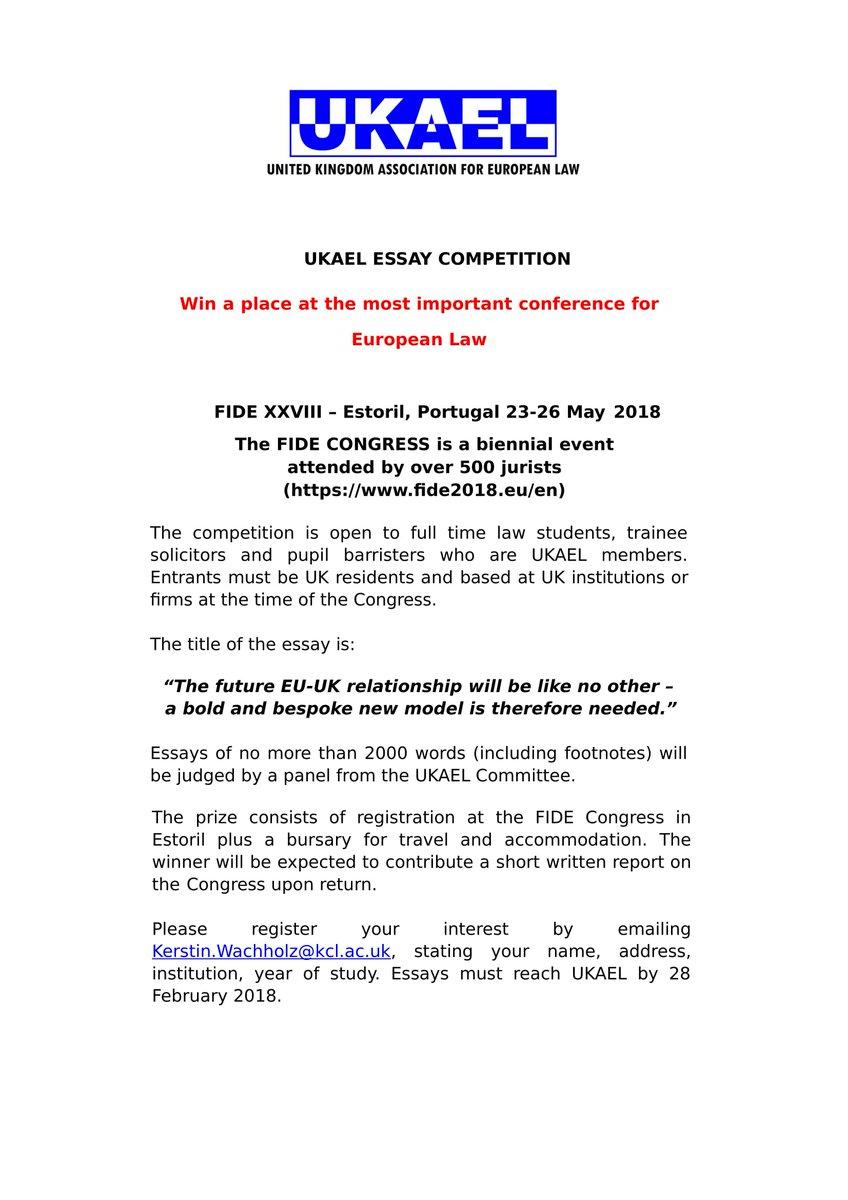 Ukael on twitter essay competition title the future eu uk