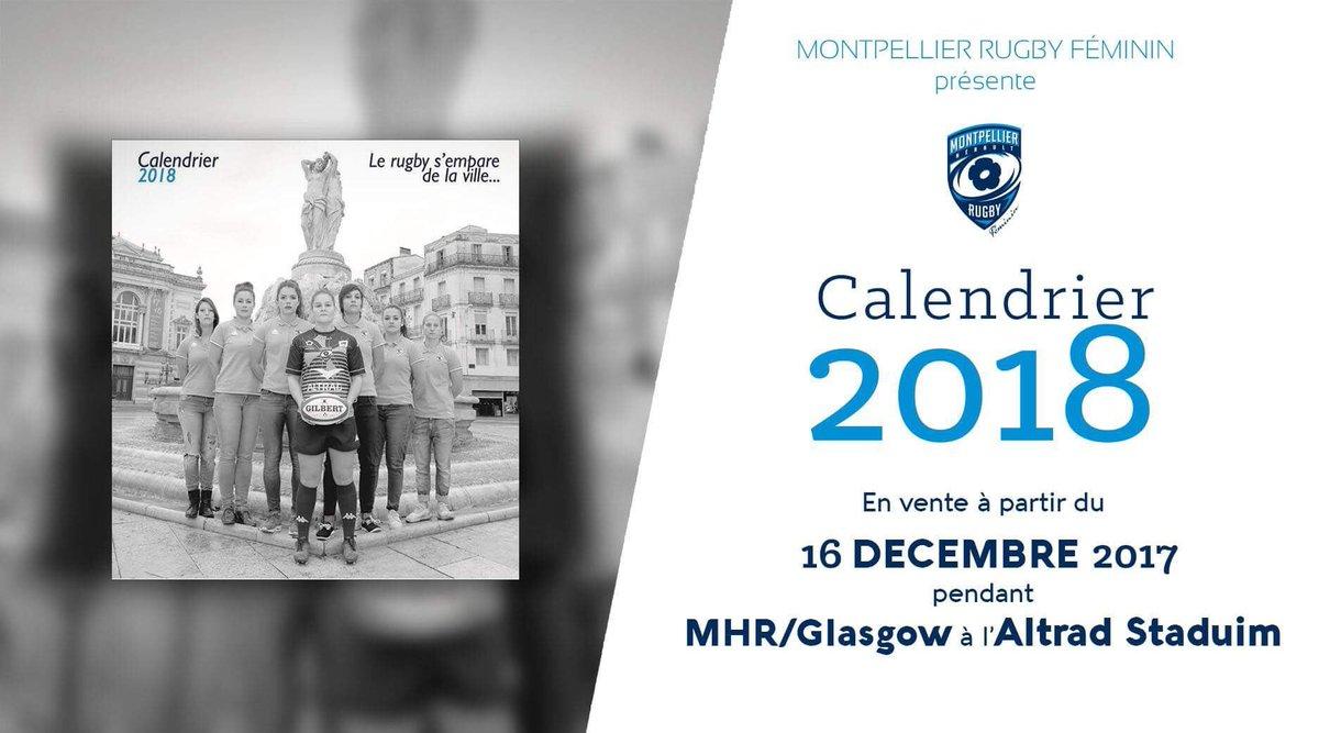 Montpellier Rugby Calendrier.Mrc Feminin On Twitter Le Calendrier 2018 Du