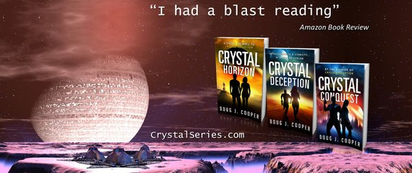 "#SCIFI THRILLS ""Cooper's voice is so captivating""  ✨CRYSTAL DECEPTION✨ @DougJCooper https://t.co/pZK0V6QXp2 #ASMSG https://t.co/Ow2bNbmnus"