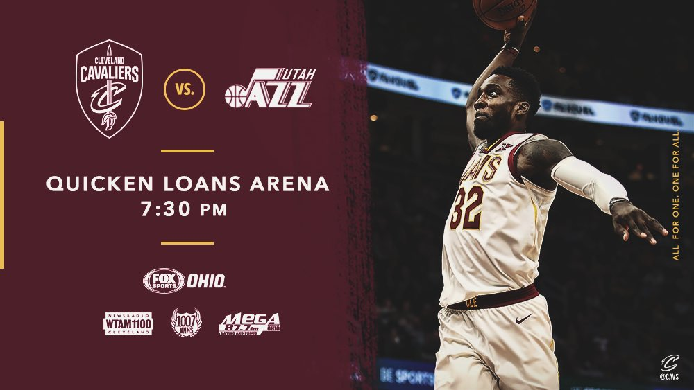 Tonight we wrap up our homestand with #CavsJazz!  PREVIEW: https://t.co/Up6lWmkELt  #AllForOne