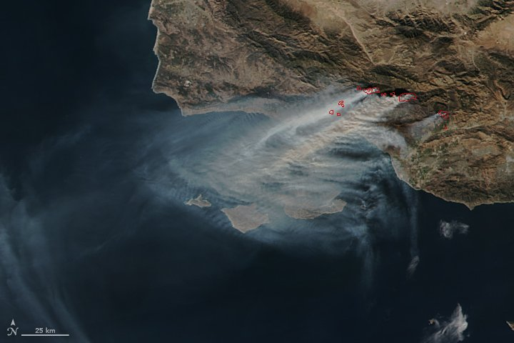 Smoke from the Thomas Fire https://t.co/yF8CcuXR6g #NASA