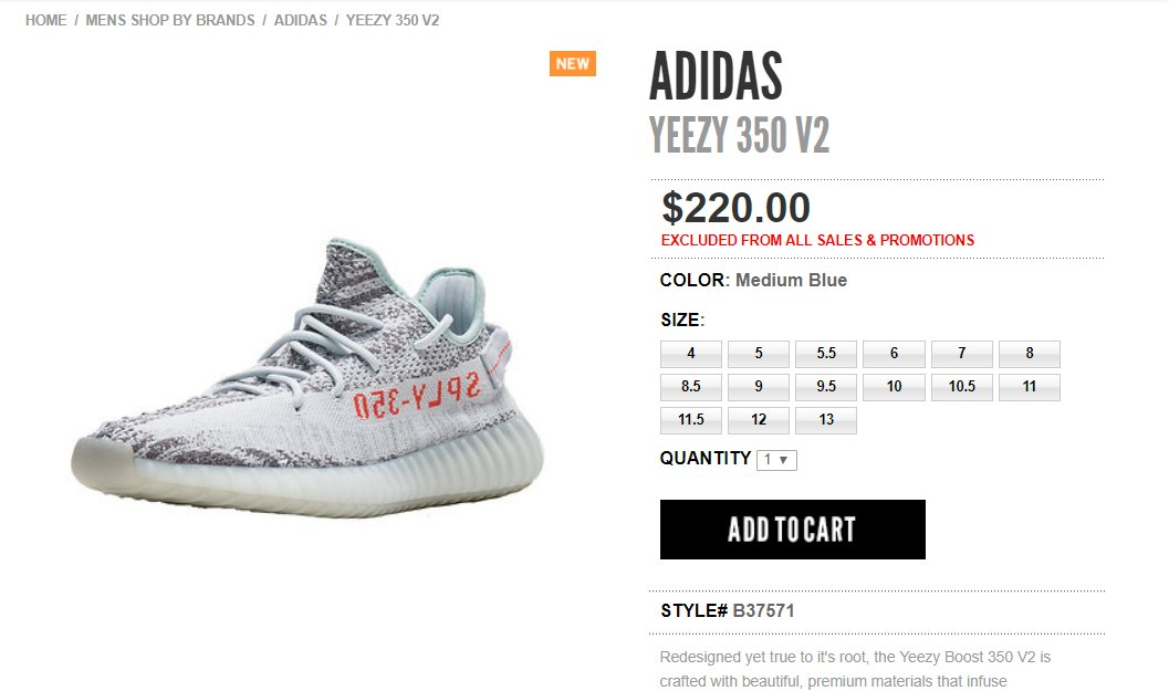 81aea8816ab68 ... sale boost links on twitter live via jimmy jazz yeezy boost 350 v2 blue  tint t