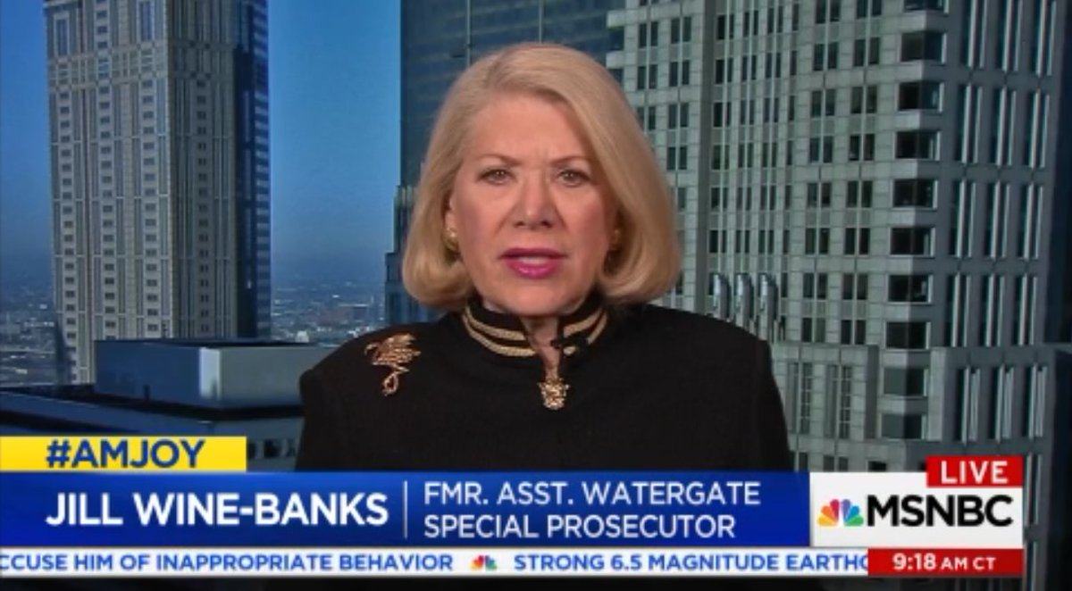 .@JILLWINEBANKS on Republicans accusing #Mueller investigators of bias:  I see a real threat to democracy and the system of justice, and the rule of law. There was nothing really like that during #Watergate.   #AMJoy #Russia <br>http://pic.twitter.com/lbTY8Pr1yj