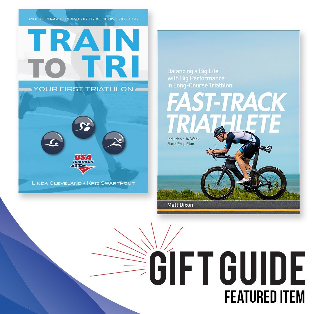 """Need a gift for the triathlete in your life who loves to read? Check out """"Train to Tri,"""" """"Fast-Track Triathlete"""" and other great gift ideas at ..."""