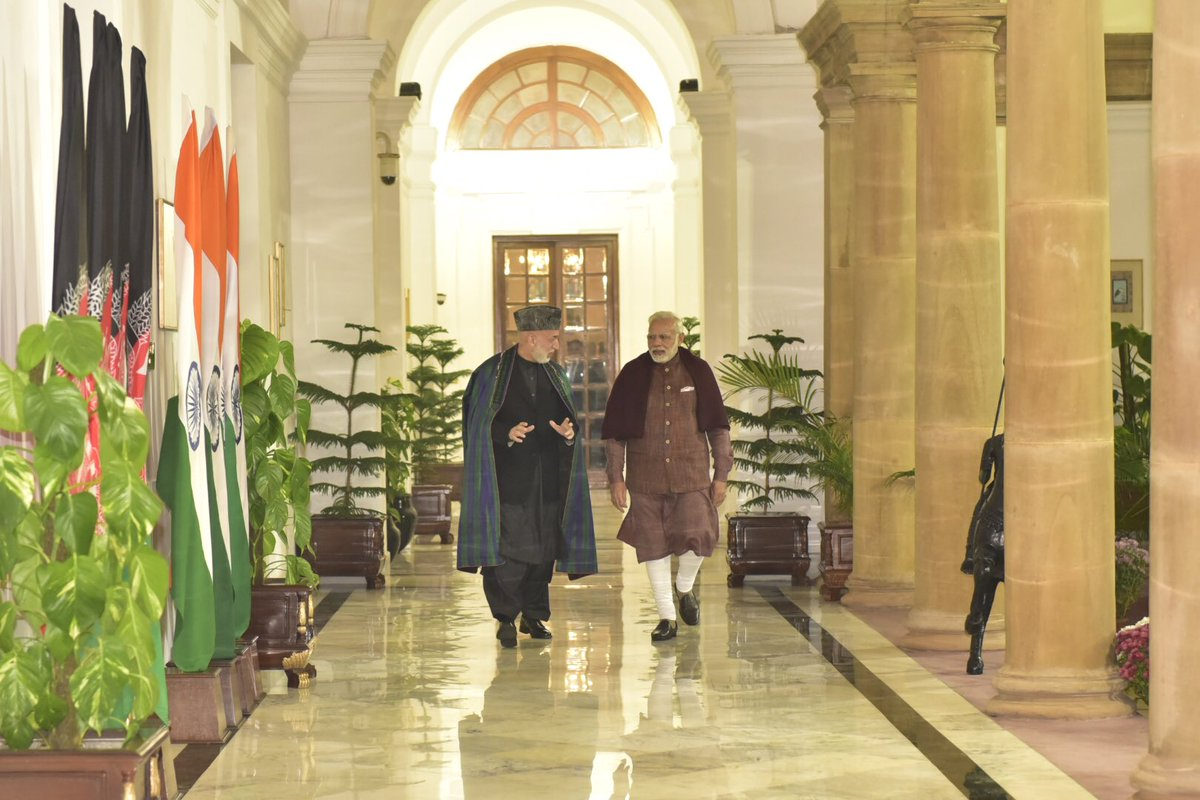 Delighted to meet my friend @KarzaiH in New Delhi.