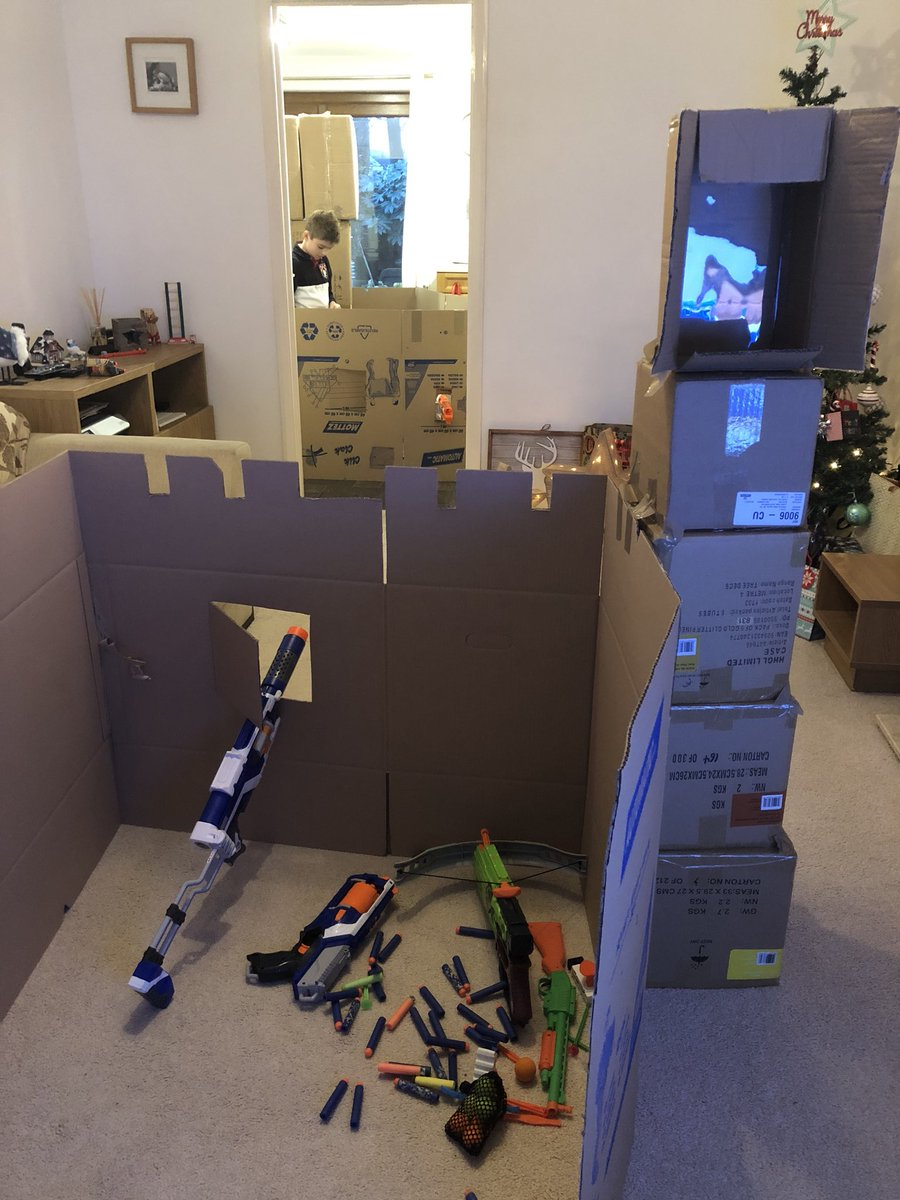 lee turner on twitter epic box fort nerf battle in the making