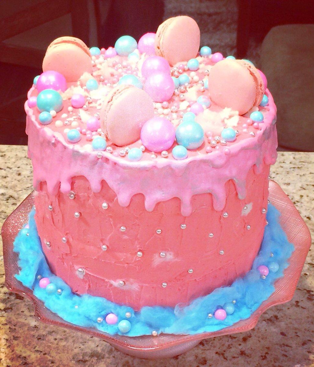 Terrific Allisbakery On Twitter A Pink In Blue Cotton Candy Cake Cake Funny Birthday Cards Online Hendilapandamsfinfo