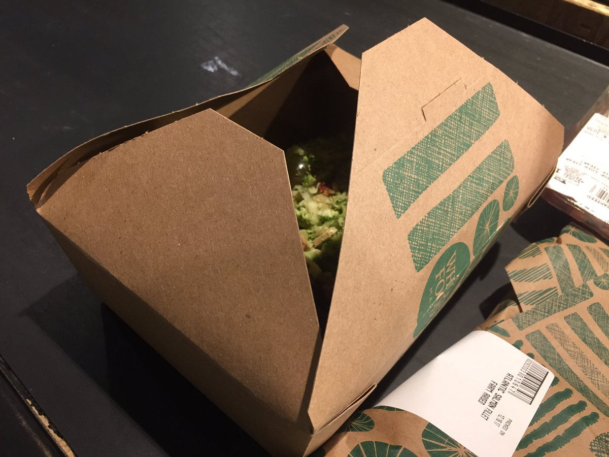 Gotta drive some package innovation with these Whole Foods prepared food boxes --never close, experience crusher @JeffBezos