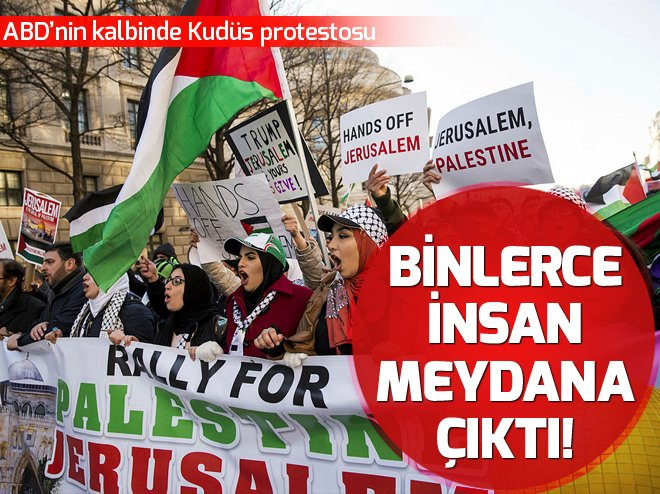 ABD'nin kalbinde Kudüs protestosu https:...