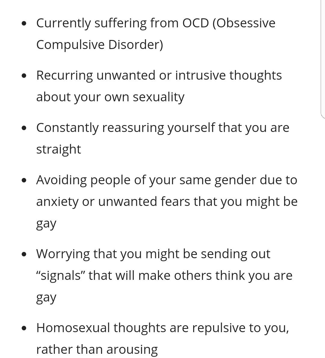 Difference between hocd homosexuality