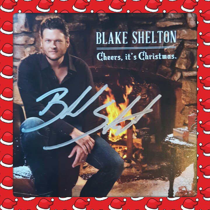 Blake Shelton Cheers Its Christmas.Big Star Country On Twitter Retweet Follow Both