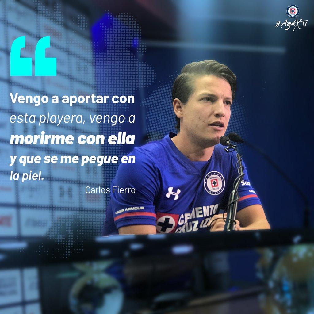 🎙'Vengo a aportar con esta playera, vengo a morirme con ella y que se me pegue en la piel'- Carlos Fierro. #AzulXTi 🚂🔵