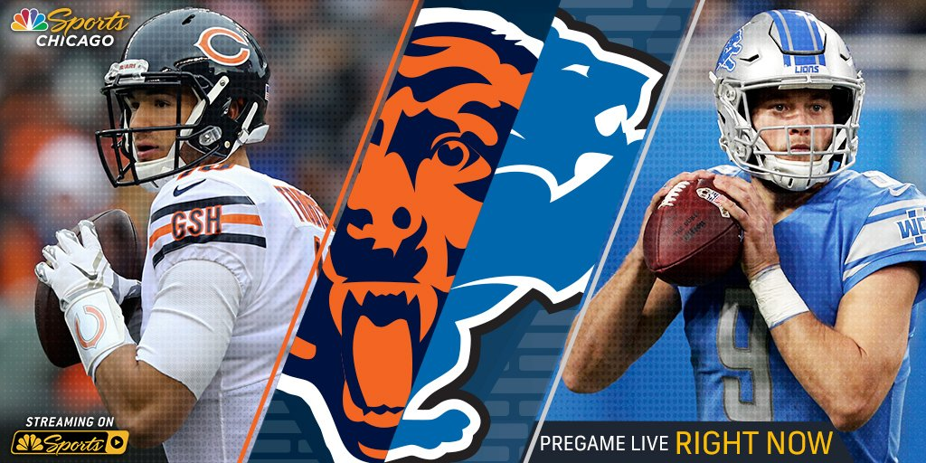 Get ready for Bears-Lions right now with the Bears Pregame Live crew. Airing on NBC Sports Chicago and streaming right here: https://t.co/AyNTatUBUy