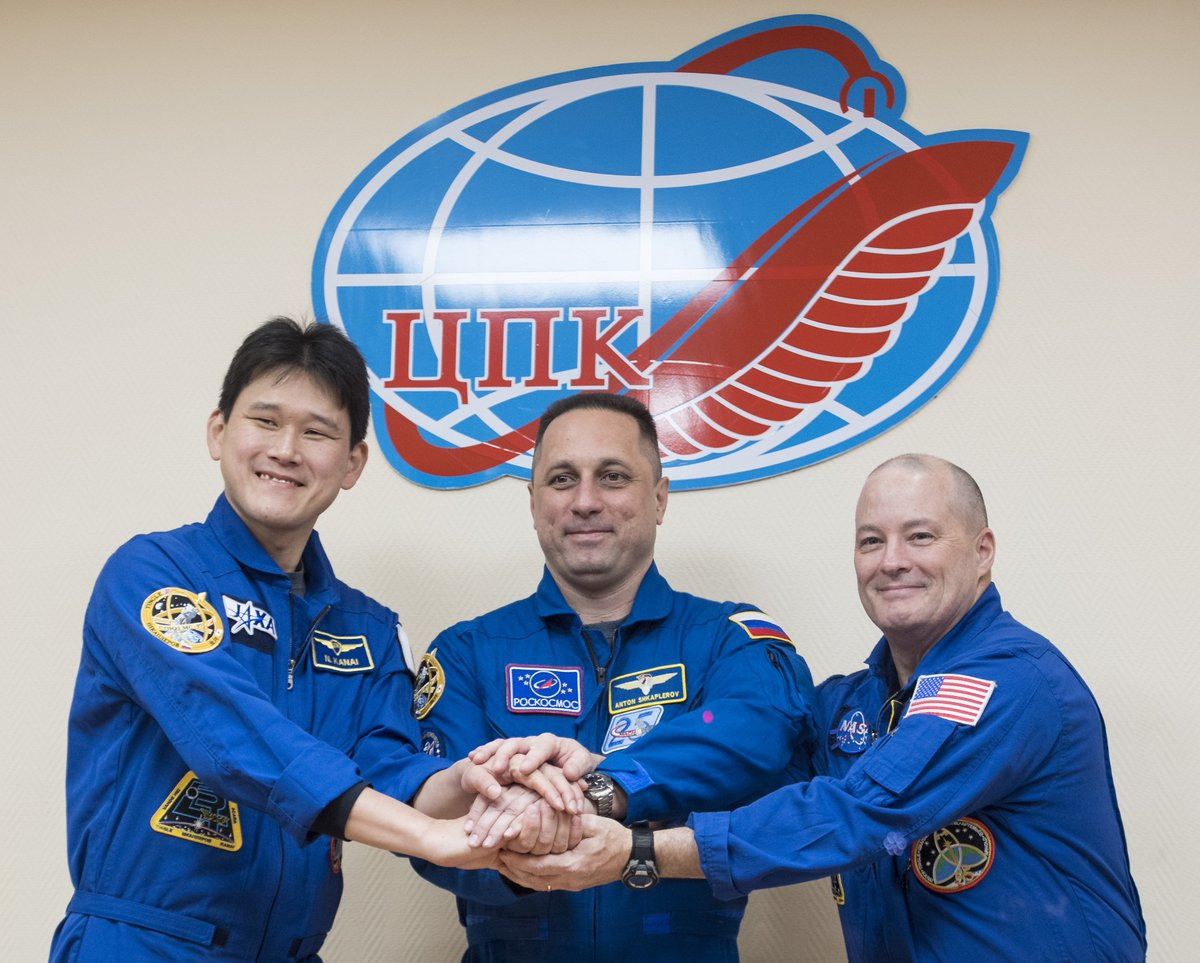 Three Expedition 54 crew members are set to launch Sunday at 2:21am ET and take a two-day trip to their new home in space. Live @NASA TV coverage begins at 1:15am Got questions? #AskNASA https://t.co/yuOTrYN8CV