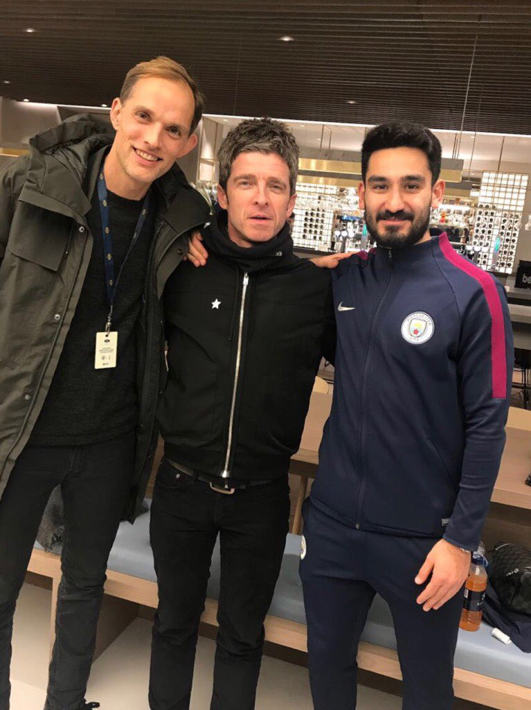 Nice evening with @IlkayGuendogan and @NoelGallagher. #mcitot #mancity #spurs