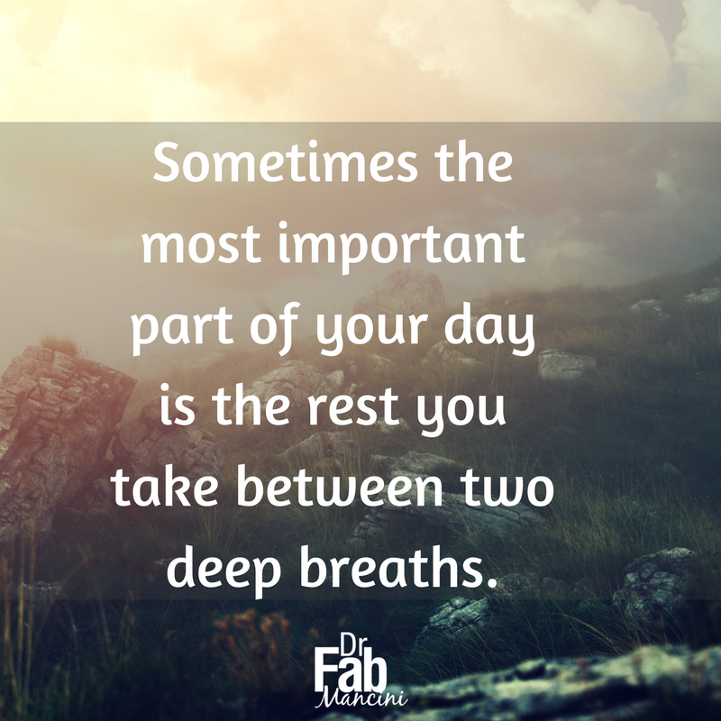 The ability to #relax is important in effectively managing stress and anxiety. #DrFab #disconnect