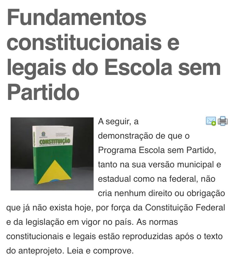 Fundamentos constitucionais e legais do Escola sem Partido https://t.co/E1nQMX7slN #EscolaSemPartido