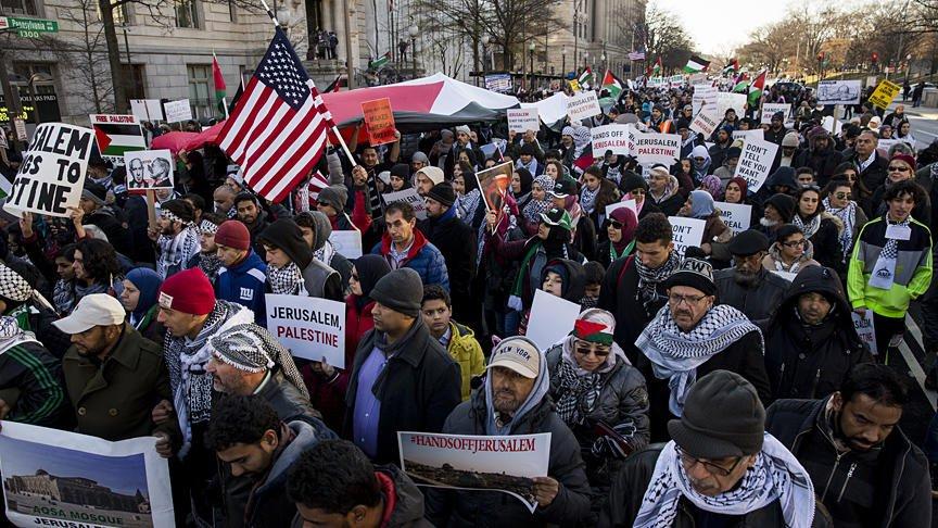 Washington'da Kudüs protestosu düzenlend...