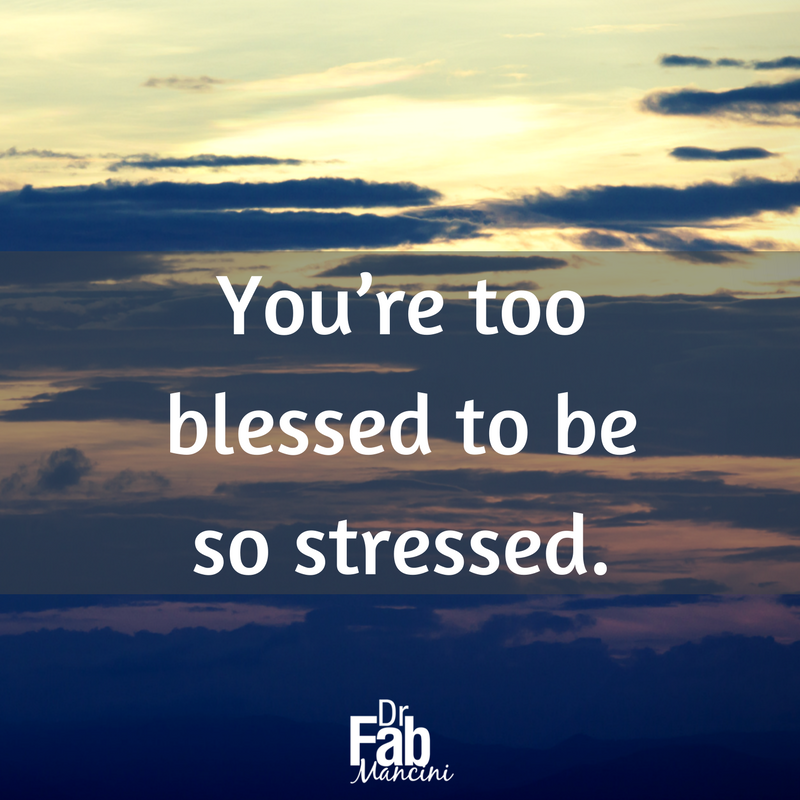 Too much continued stress can seriously affect our physical and mental well being.  #DrFab #disconnect