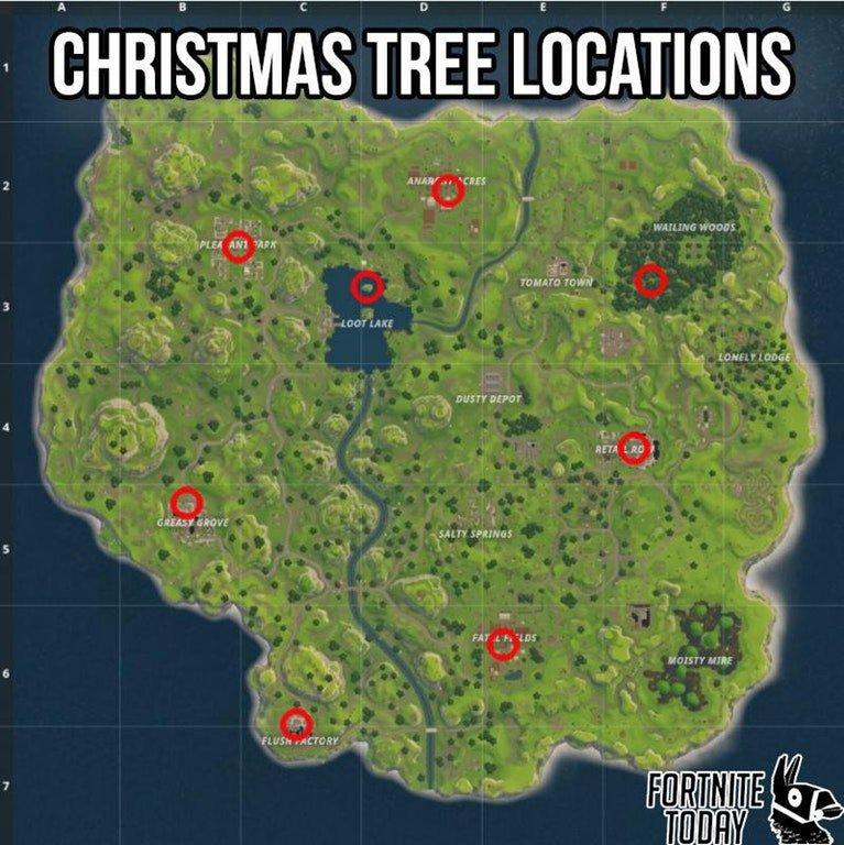 All Christmas Tree Locations Fortnite.Fortnite Season 10 News Leaks On Twitter Tip Chests