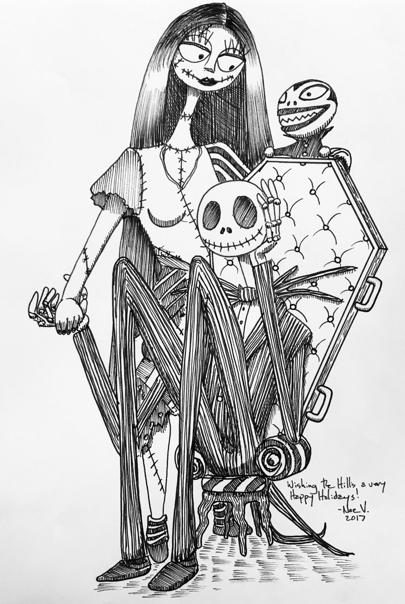 Love Nightmare Before Christmas Drawings | www.topsimages.com