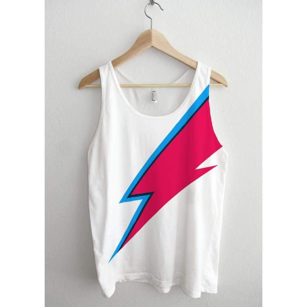 Bowie Lightning Bolt Face Paint Full Print Unisex Tank Top #women #tshirt #fashion #style #new #paint #top  https:// seethis.co/xy8gKK/  &nbsp;  <br>http://pic.twitter.com/rrXXewqgHh