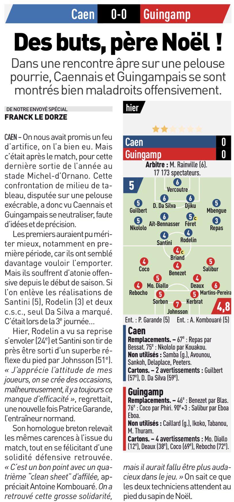 [18e journée de L1] SM Caen 0-0 EA Guingamp DRNnjHQXUAAvLvS
