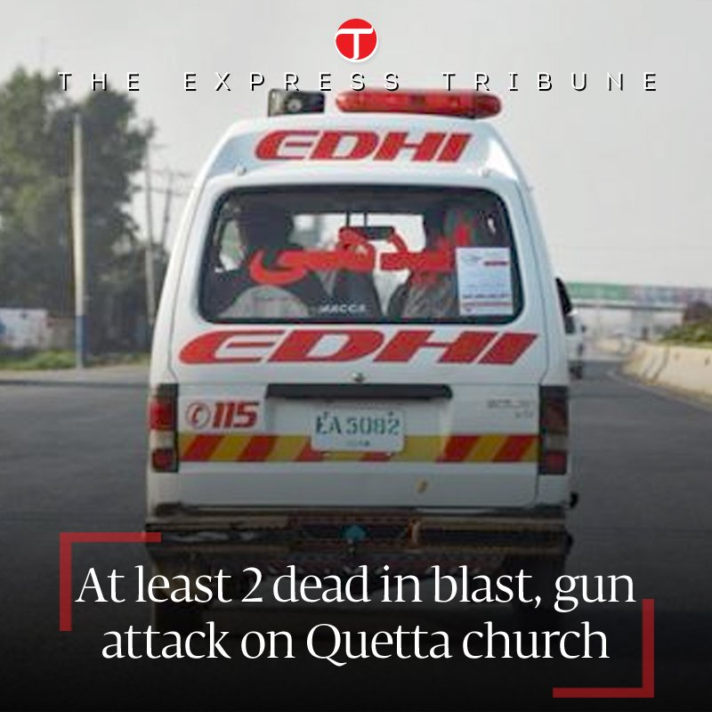 At least 2 dead in blast, gun attack on Quetta church https://t.co/uY7tWRr548