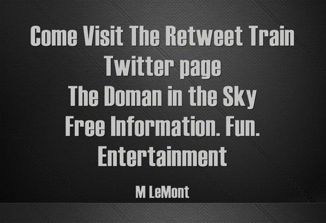 Click & #Follow @MisterSalesman The Retweet Train-- Hand Curated Tweets & Retweets #SMM #Twitter #Followers #Fun