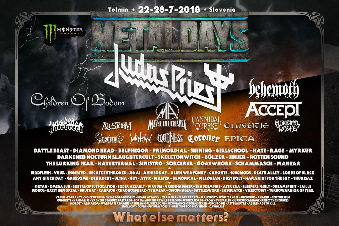 RT @judaspriest: New Tour Date Announced: Thursday 26th July 2018    Metal Days Festival/Tolmin/Slovenia https://t.co/1d4v3U5cDD