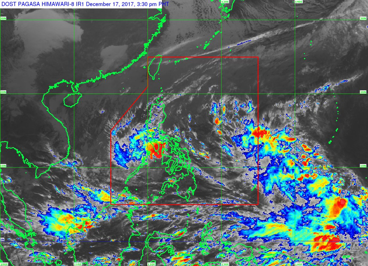At 4:00 PM today, the center of Tropical Depression #UrdujaPH  was estimated based on all available data at 65 km South of Romblon, Romblon (12.0 °N, 122.3 °E)