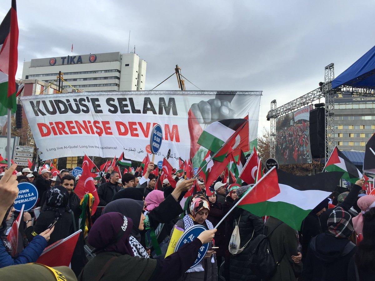 Anadolu'dan Kudüs'e selam direnişe devam...