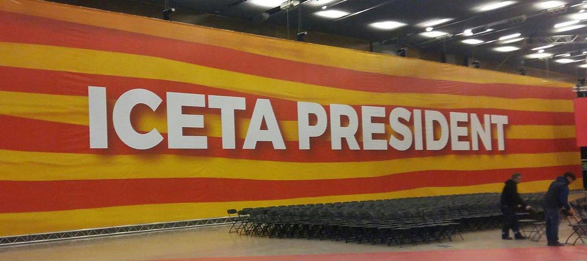 Todo preparado ya para recibir a @sanchezcastejon @miqueliceta @conjosepborrell y ZP en un acto que va a ser decisivo en la campaña del #21D Vamoooooos💪💪💪 #PresidentIceta