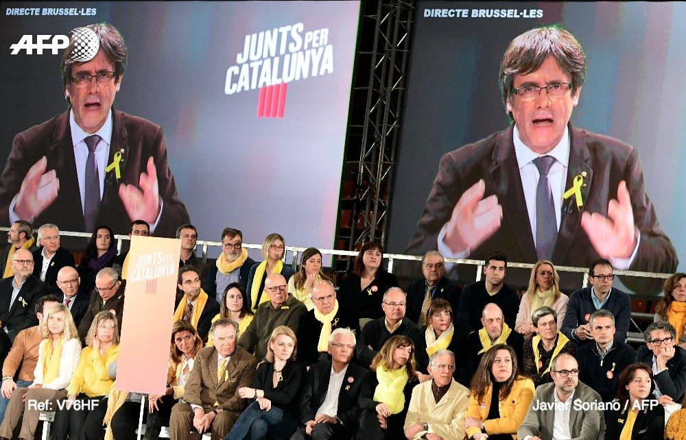 Depuis la Belgique ou la prison, la campagne atypique des indépendantistes catalans https://t.co/MpGbcj8AWu par @tonijcerda &  @danibosque#AFP