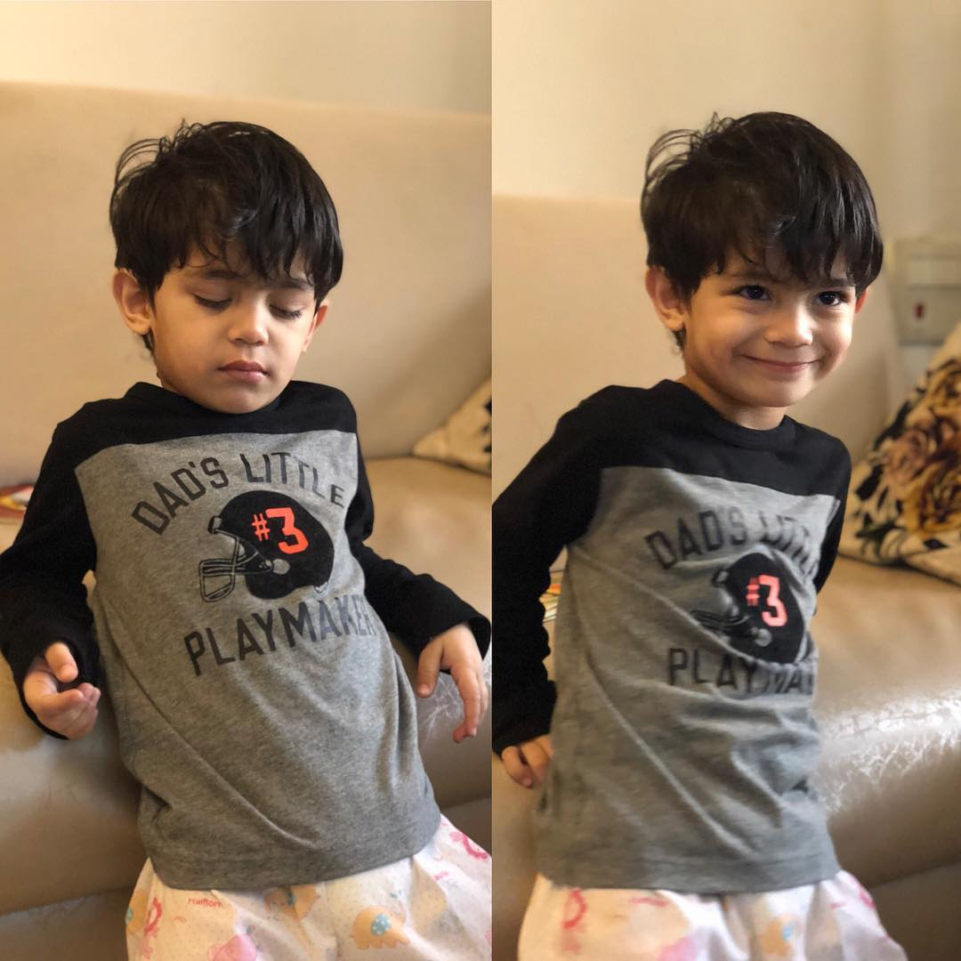 Isn't he just adorable?!  #ArjunBijlani's son #AyaanBijlani! pic.twitter.com/1BLDzzZFfR