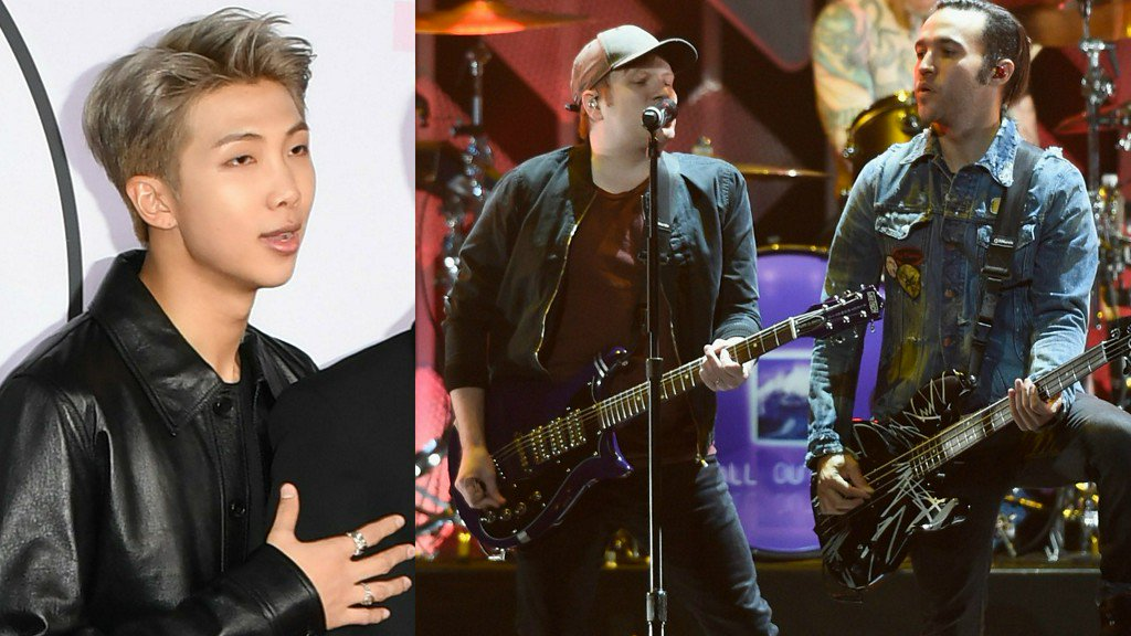 .@BTS_twt's RM teams up with @FallOutBoy for a remix of #Champion! Listen: https://t.co/H3DzMhwbfP