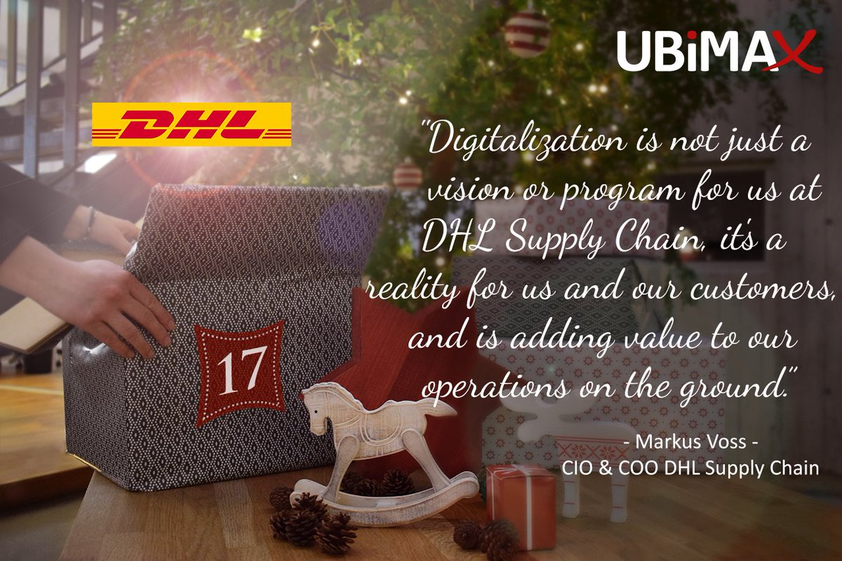 Markus Voss ubimax on day 17 markus voss cio coo at dhl supply