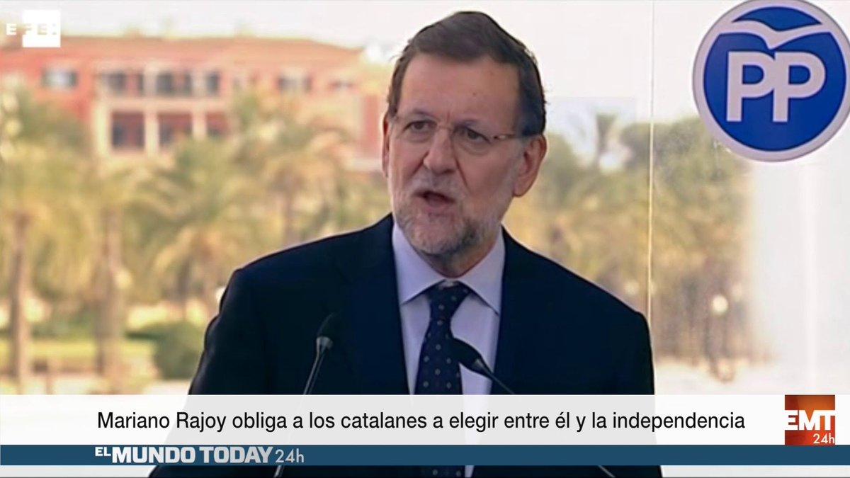 Mariano Rajoy obliga a los catalanes a elegir entre él o la independencia https://t.co/rmYFlLxNlu