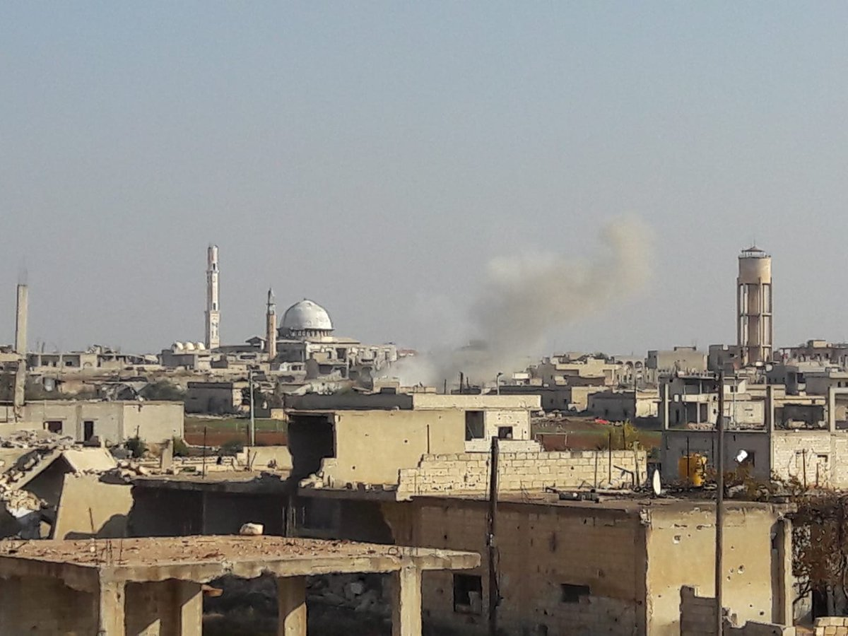 Pro-Assad forces attacked KafrZita in Hama province with rockets over the morning