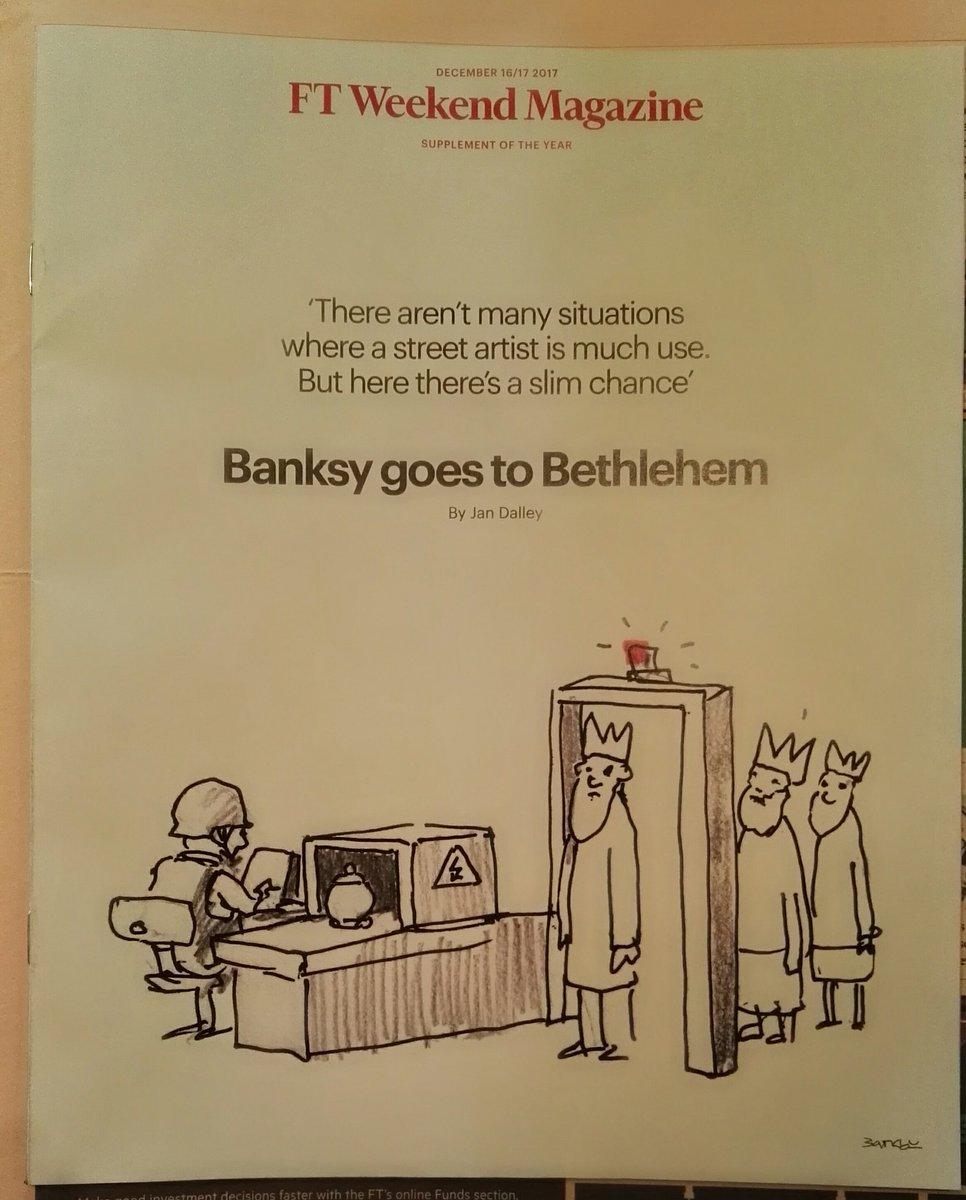 #Banksy goes to #Bethlehem - weekend @FT...