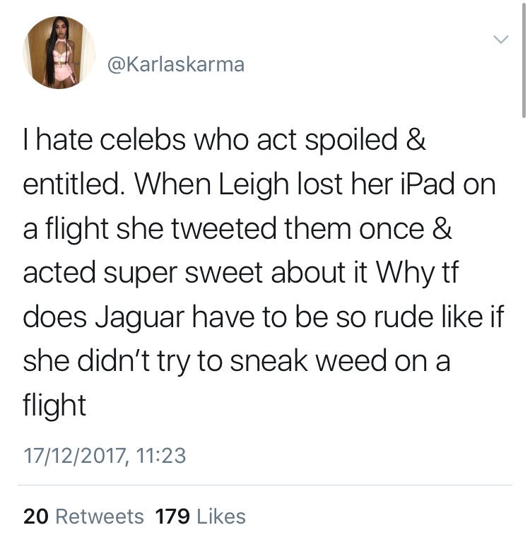 RT @lemonadenormani: Yeah I hate celebs that act spoiled and entitled then tweet about it afterwards https://t.co/dQfH8PWRnk
