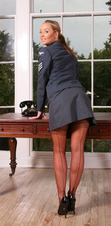 That Air force uniform pantyhose